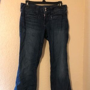 Women's arias flare jeans
